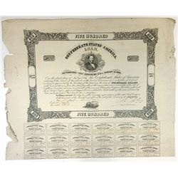 Confederate States of America, 1862 I/U Bond