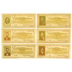 Lewisburg Grain Elevators, 1933 Lot of 6 Different Notes.