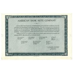 American Bank Note Co., 1960s Advertisement Stock Certificate