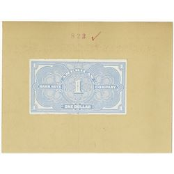 American Bank Note Company - One Dollar, ND (ca.1910-20's) Proof Advertising Note Reverse.