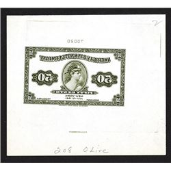 American Bank Note Company 1921 Reverse Mirror Image Advertising Banknote