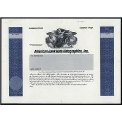 American Bank Note Holographic, Inc. 1985 Proof Stock Certificate