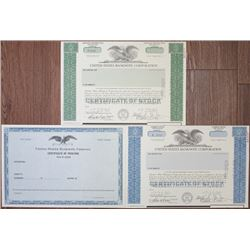 United States Banknote Corp., 1960-70's Specimen Stock Trio