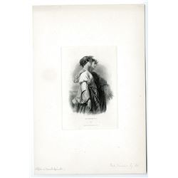 """James Smillie Proof Engraving of ABNC Intaglio Proof Vignette """"The Reapers No. 2"""" ca.1860's."""
