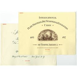 Sixtieth Annual Convention (1952) of the International P.P, Die Stampers & Engravers Union, Specimen