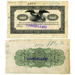 Republic Bank Note Co., 1928 Progress Proof Document Pair