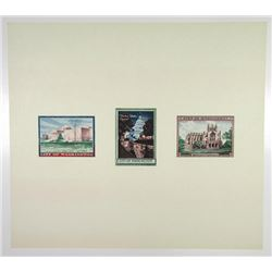 City of Washington D.C. 1950s Landmark Site Stamp Labels by BEP From Union Books