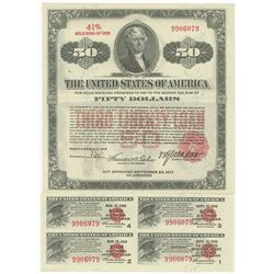 Third Liberty Loan 4 1/4% Gold Bond of 1928, $50 Issue May 9, 1918.