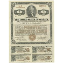 Fourth Liberty Loan 4 1/4 % Gold Bond of 1933-1938, $50 Issue October 24, 1918.