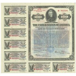 Victory Liberty Loan 4 3/4 % Convertible Gold Note of 1922-1923, $100 Issue May 20, 1919.