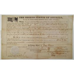 General Land Office, 1860 Bounty Land Grant for 120 acres