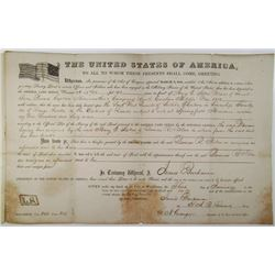 General Land Office, 1860 Bounty Land Grant for 160 Acres