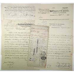 Department of the Interior, Bureau of Pensions 1890s Civil War Related Pension Documents