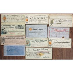 Delaware, New York and Rhode Island Checks & Drafts ca.1850's to 1880's.