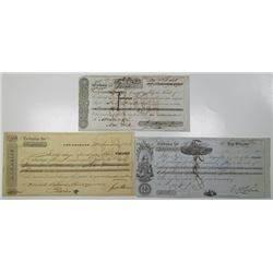 New Orleans, 1837 to 1867 Bill of Exchange Trio.