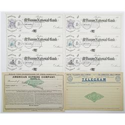 Group of 4 Banking, Telegram, and American Express Co. Documents