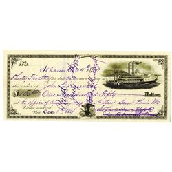 St. Louis Bank Note Co. 1882 I/C  Check or Draft.