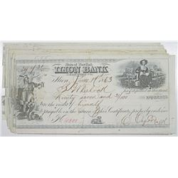 Ilion Bank, 1863 Certificate of Deposit Group of 25.