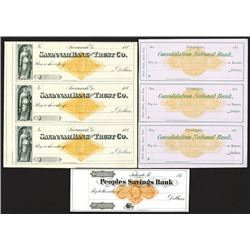 Peoples Savings Bank, Consolidated National Bank, Savannah Bank & Trust Co. All with Imprinted Reven