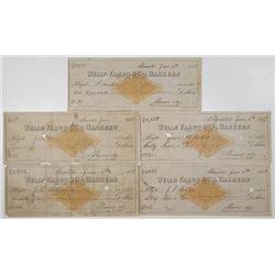 Wells Fargo & Co. Bankers 1877 I/C Check Quintet