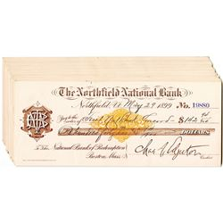 Northfield National Bank, 1899 Group of 30 Drafts with IR RN X-7