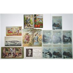 Trade Cards and Advertising Ephemera, ca.1880-1920's Miscellaneous items.