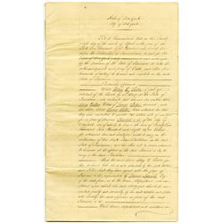 Louisiana, Historic Oaklawn Plantation, 1871 Official Notary Document Copy of the 1871 Mortgage Reco