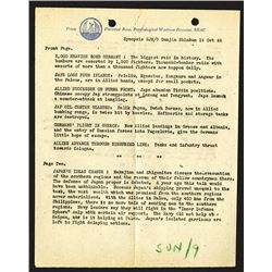 """Psychological Warfare Division, 1944 Report, """"5000 Heavies Bomb Germany""""  other War News."""