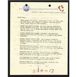 Psychological Warfare Division, December 9, 1944 report Including Bombing and Military Status.