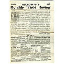 McCrossan's Monthly Trade Review Dec 1887 12 pgs.