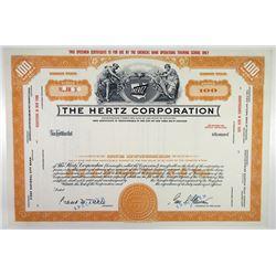 Hertz Corp., 1950-60's Specimen Stock Certificate