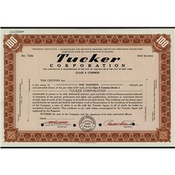 Tucker Corporation, 1946 Specimen Stock Certificate
