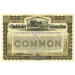 Studebaker Corp. 1929 I/U Stock Certificate