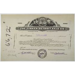 Timken-Detroit Axle Co., ca.1930-40 Progress Proof Stock Certificate