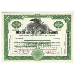 Beech Aircraft Corporation ND (ca.1930-40's) Specimen Stock Certificate.