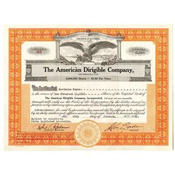 American Dirigible Co., Inc. 1953 I/U Stock Certificate