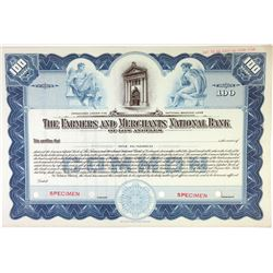 Farmers and Merchants National Bank of Los Angeles, 1935 Specimen Stock Certificate