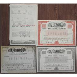 Wells Fargo & Co., 1986 Stock Certificate Production File