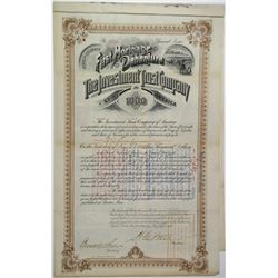 Investment Trust Co. of America 1893 Bond