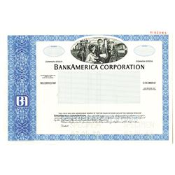 BankAmerica Corp., 1980 Specimen Stock Certificate