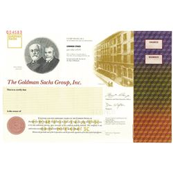 Goldman Sachs Group, Inc. 1999 Specimen Stock Certificate
