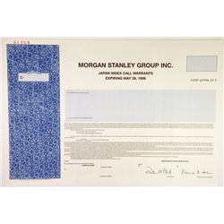 Morgan Stanley Group Inc. 1994 Specimen Warrant Certificate