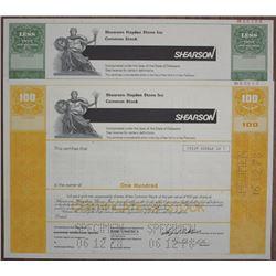 Shearson Hayden Stone Inc., 1977 Specimen Stock Certificate Pair