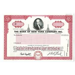 Bank of New York Co., Inc. Specimen Stock Certificate