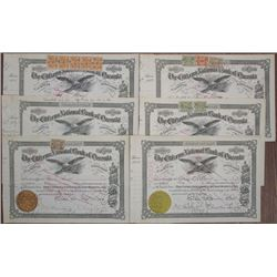 Citizens National Bank of Oneonta, 1916 to 1924 I/C Stock Certificates