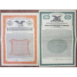 New York State, 1931 Specimen Depositor Bond Pair.