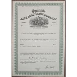 Equitable Life Assurance Society of the United States 1890-1910 Unissued Insurance Policy