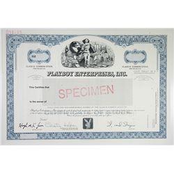 Playboy Enterprises, Inc., 2005 Specimen Stock Certificate