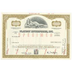 Playboy Enterprises, Inc. 1972 Specimen Stock Certificate