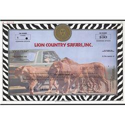 Lion Country Safari, Inc., 1978 Specimen Stock.